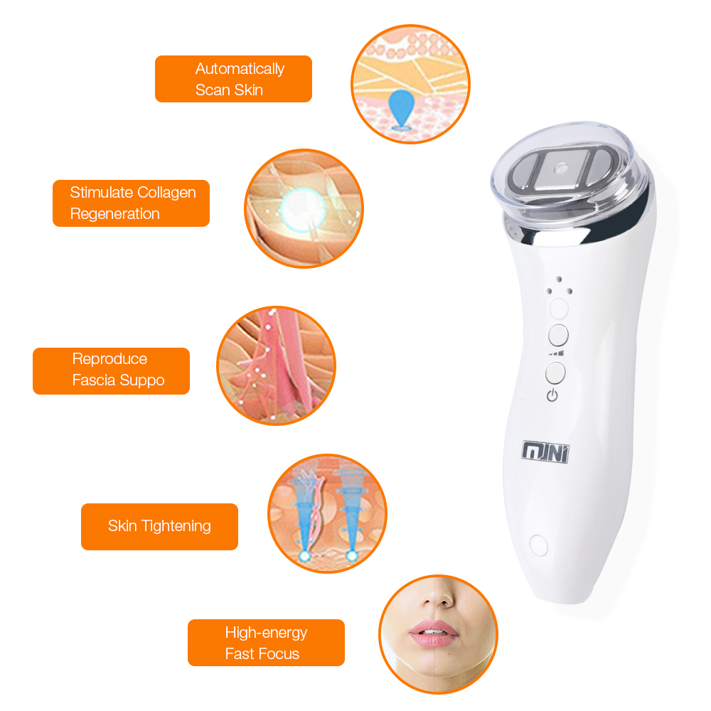 Mini Hifu Focused Ultrasound Bipolar RF Face Neck Lifting Beauty Secret Lift Massager Wrinkle Removal Tightening Radio Frequency focused ultrasound led radio mini hifu removal frequency anti aging bipolar rf face lifting neck wrinkle facia beauty massager