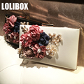 2017 women bag hot hand evening bags new the chain the handmade pattern flowers wedding dinner bags day clutches bags