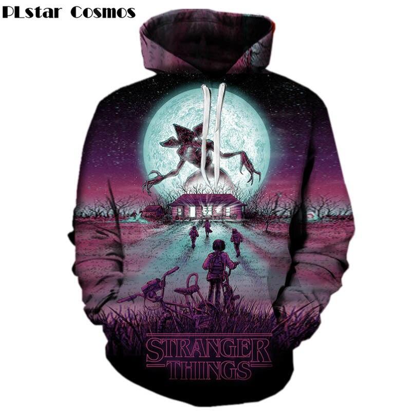 PLstar Cosmos funny stranger things hoodies print 3d boy/girl hoodies anime men hoodie male sweatshirt hoddies print pullover