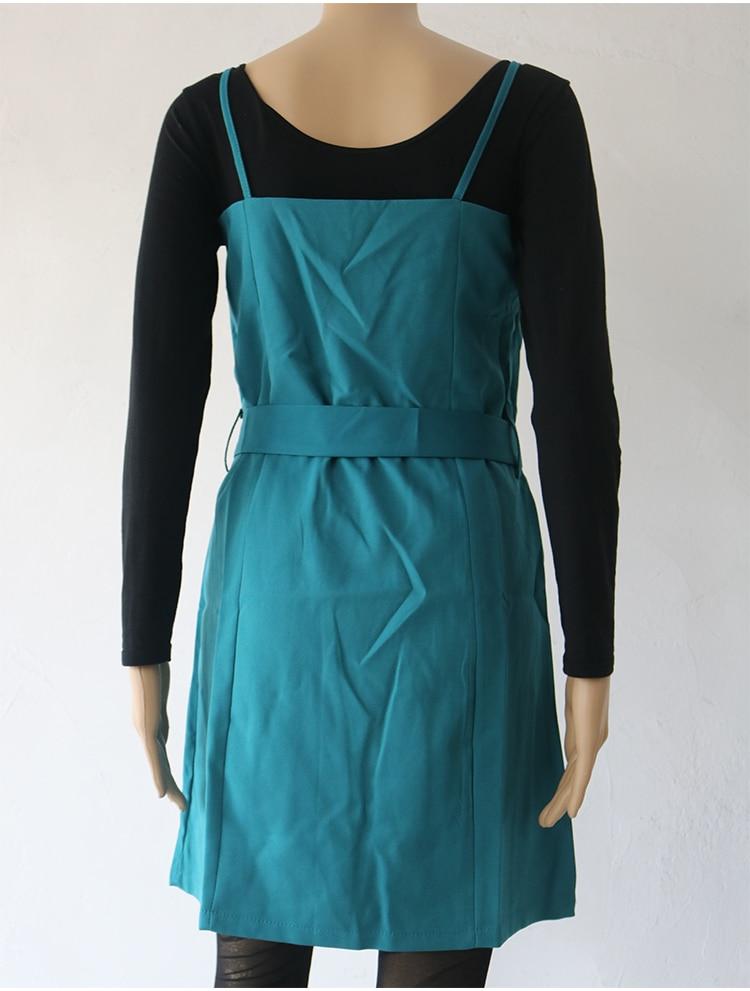 Autumn Business Suit Elegant Office Dress Lady Work 2 Pieces Set Long Sleeve Blazer and Sleeveless Dress Suit Set 44