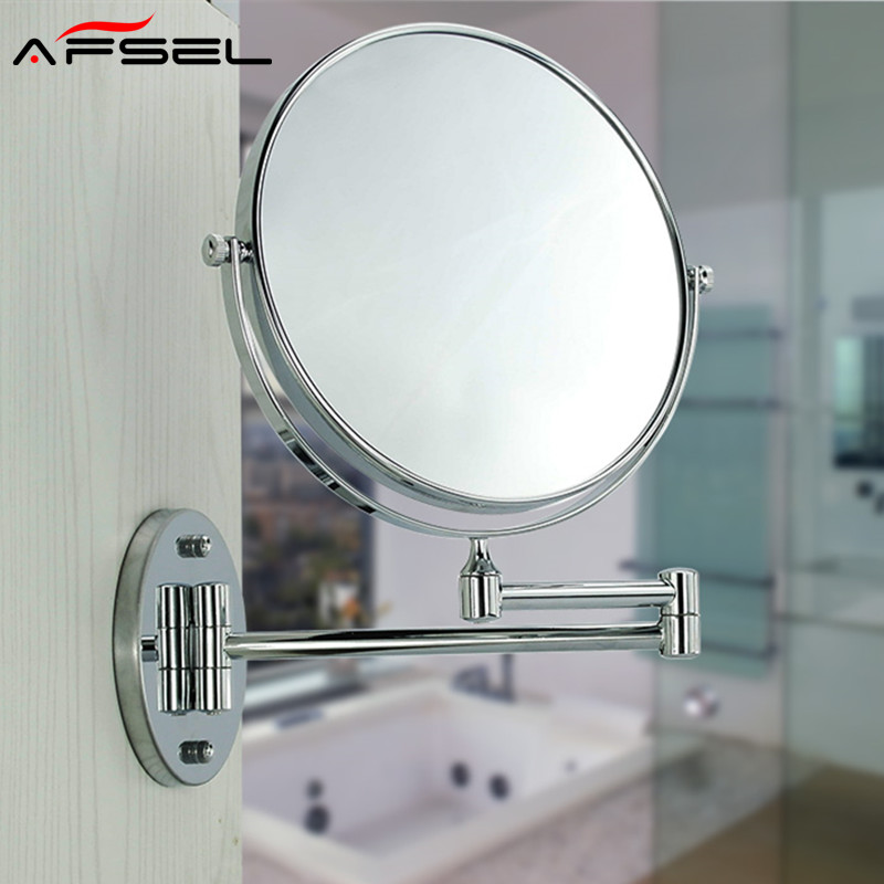 AFSEL Special offer 8 Inches Cosmetic Wall Mounted Make up Mirror Shaving Bathroom Mirror 3x Magnification Hotel Toilet Mirror silver extending 8 inches cosmetic wall mounted make up mirror shaving bathroom mirror 7x magnification