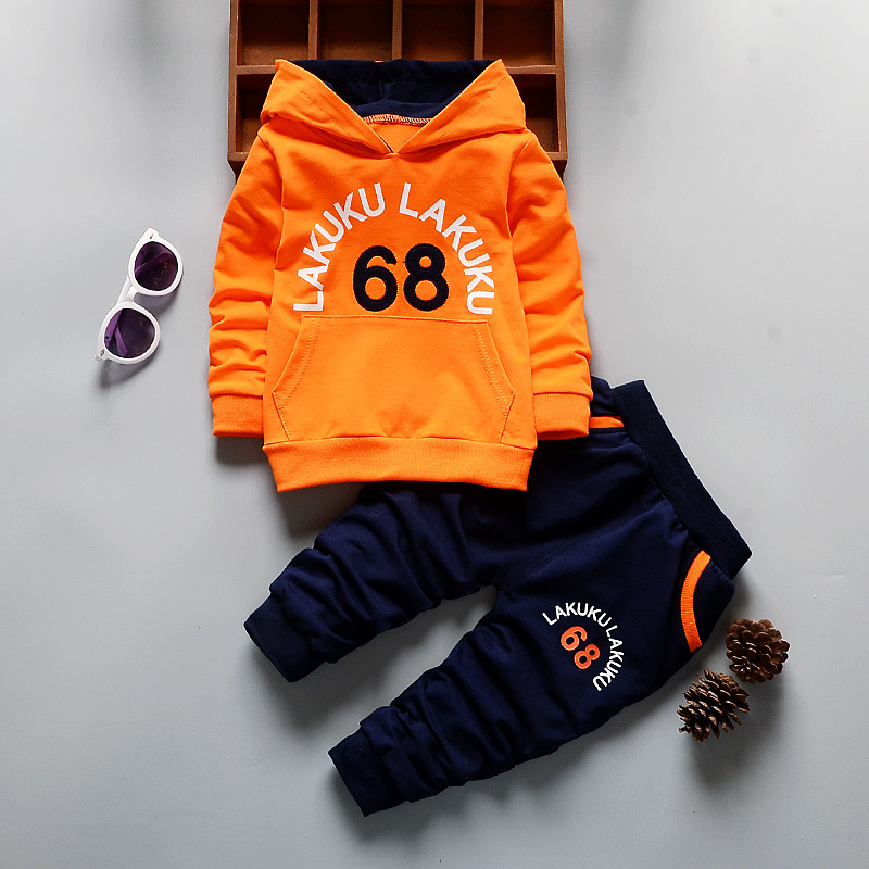 BOTEZAI Spring Autumn Baby Clothing Sets Children Boys Tracksuits Kids Brand Sport Suits Kids Hoodies Sweatshirts+pants 2pcs Set bibicola spring autumn baby girls boys clothes sets children stars sport suits coat pants 2pcs clothing sets kids child suits
