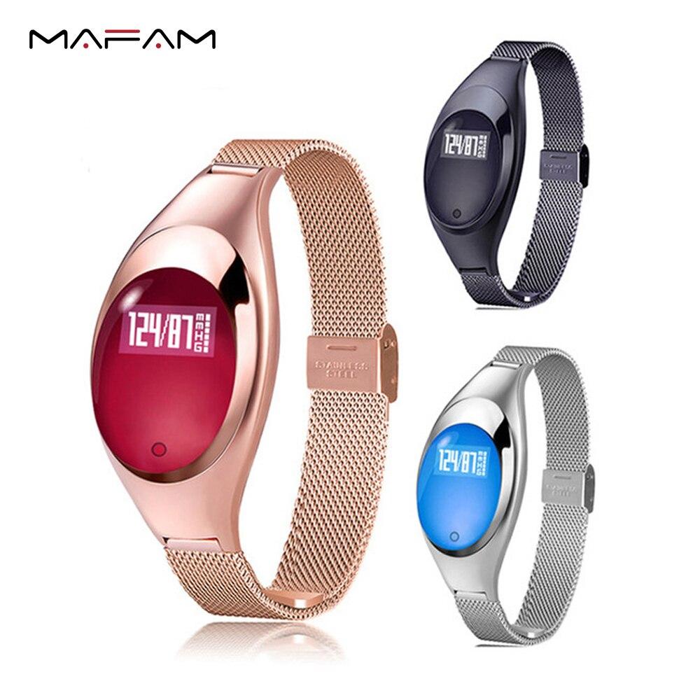 MAFAM Z18 Women Smart bracelet Fashion gilr smart wristband Band Blood Pressure Heart Rate Fitness Monitor Pedometer Android IOS стоимость