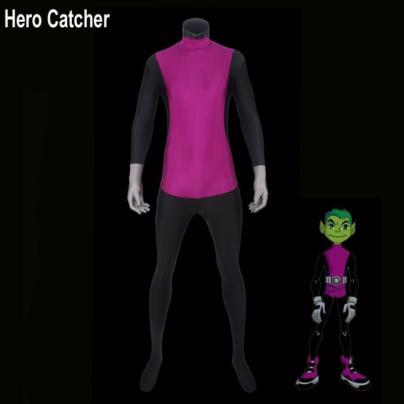 Hero Catcher Kvalitní Nejnovější Beast Boy Cosplay Kostým Spandex Beast Boy Zentai Suit