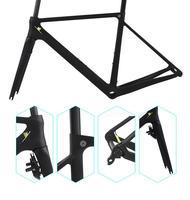 AWST 2017 black yellow/blue/ frames bike frame carbon fiber frame +fork+seatpost T1000 UD carbon frame road bike frameset