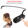 5MP 16GB 1080P Full HD Mini Camera Cycling DV Video Recorder Mini Camcorders Bluetooth Bone Conduction Bluetooth Headset