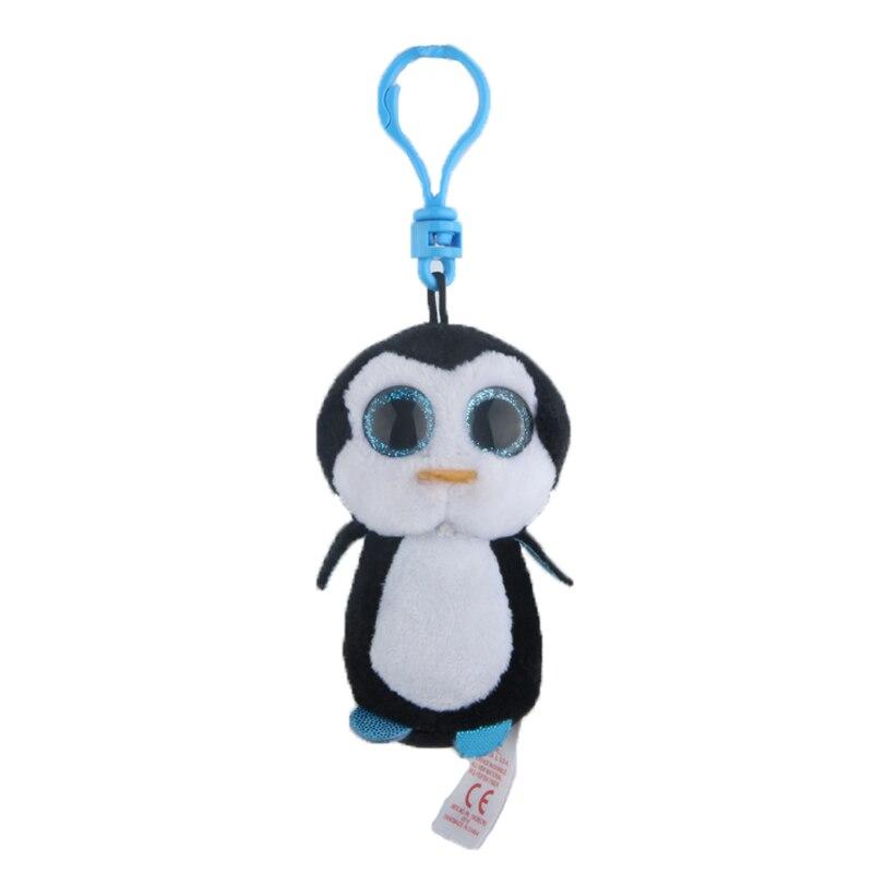 Ty Шапочка Боос большие глаза Плюшевые черный пингвин брелок игрушка кукла TY подарок для маленьких детей