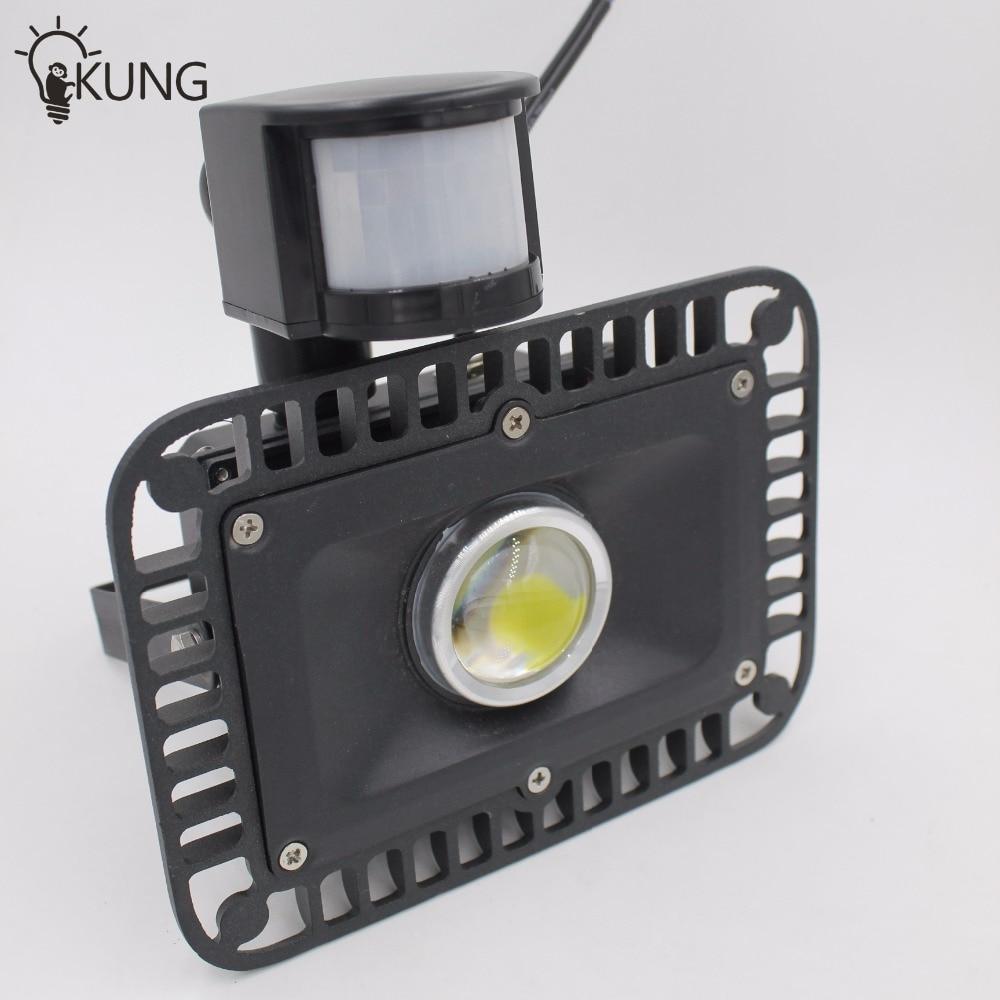 ФОТО Special offer 30W LED Flood Light with Motion detective Sensor Waterproof Outdoor PIR DC12V 24V input IP65 LED Floodlight