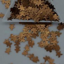 Блестки 25 г 7 мм в форме пряничного человечка ПВХ свободные блестки для рукоделия пайетки, швейные украшения аксессуары для детей DIY