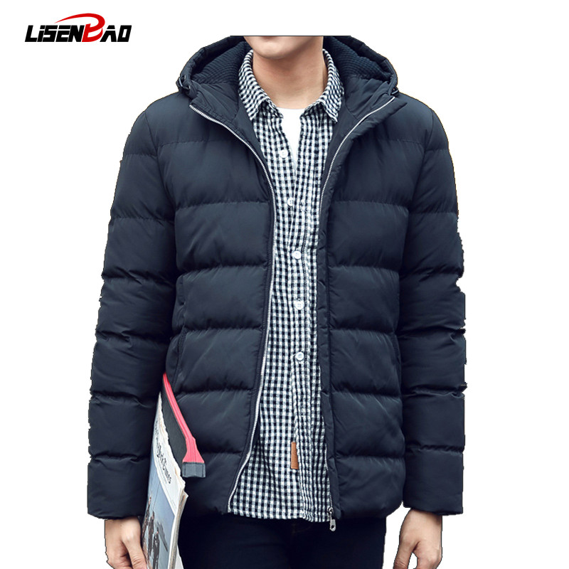 2017 new Brand winter warm Jacket for men hooded coats casual mens thick coat male slim casual cotton padded down outerwear winter jacket men warm coat mens casual hooded cotton jackets brand new handsome outwear padded parka plus size xxxl y1105 142f
