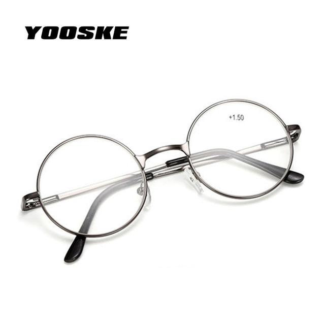 44d6512bc0bcb YOOSKE Óculos De Leitura Retro Das Mulheres Dos Homens Espelho Redondo Para  Harry Potter Óculos de