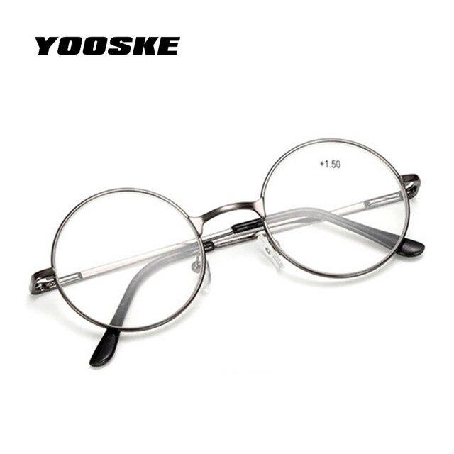 YOOSKE gafas de lectura Retro hombres mujeres espejo redondo para ...