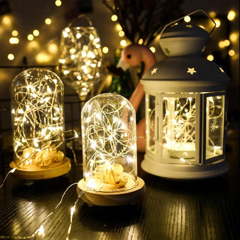 Открытый освещение водонепроницаемое светодиодное медный провод строка 2 м/5 м/10 м батарея порошкообразные декоративные освещение для Рождество дерево Свадебная вечеринка
