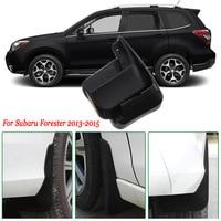 Subaru Forester 2013-2015 용 4pcs 프리미엄 헤비 듀티 몰드 스플래쉬 머드 플랩 가드 펜더