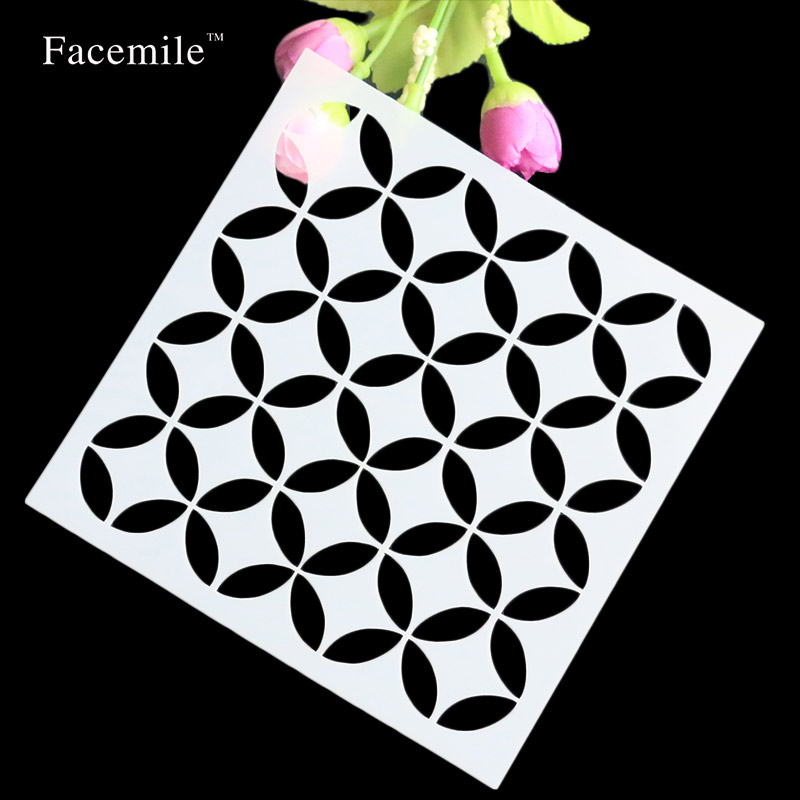 Facemile DIY Craft Layering Stencils Walls Painting Scrapbooking Stamping Stamps Album Decorative Embossing Paper Cards Crafts favourite 1602 1f