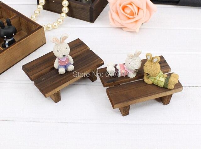 Mini legno fatti a mano di carbonizzazione sgabello carino