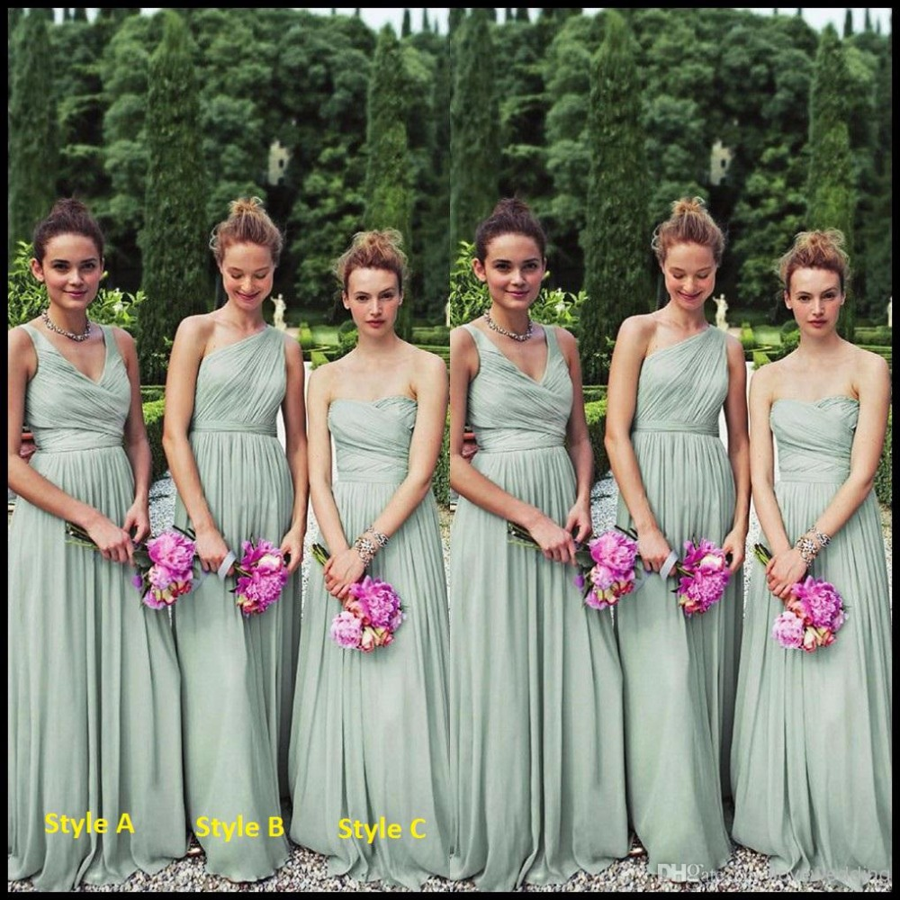 Aliexpress buy chiffon bridesmaid dresses long floor length aliexpress buy chiffon bridesmaid dresses long floor length sage mint green bridal gowns from reliable chiffon bridesmaid dress suppliers on ombrellifo Gallery