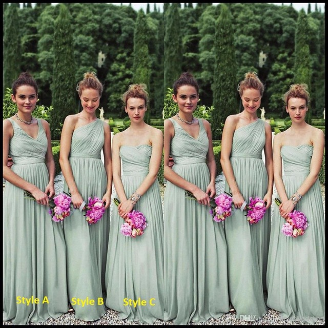 Chiffon Bridesmaid Dresses Long Floor Length