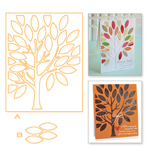 Eastshape Tree Rectangle Metal Cutting Dies Leaves Background Scrapbooking New 2019 Craft for Cards Making Embossing Stencils