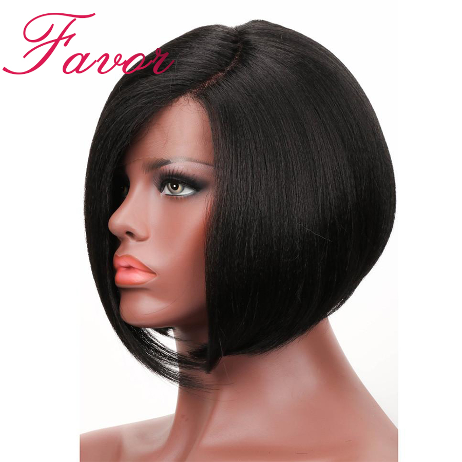 Short Straight Wig 360 Lace Frontal Wigs With Baby Hair 180 Density Brazilian Remy Lace Front
