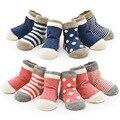 Весной 4 пара Хлопок Детские Носки Набор Полосой Новорожденного Малыша носок Для 0-3 Лет Рождественский Подарок Baby Boy Девушка Носки