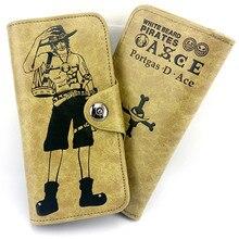 Mode Lässig Cartoon One Piece Wallet Carteira Masculina Leder Geldbörse Lange Stil Reißverschluss Geldbörsen handtasche Freies Verschiffen