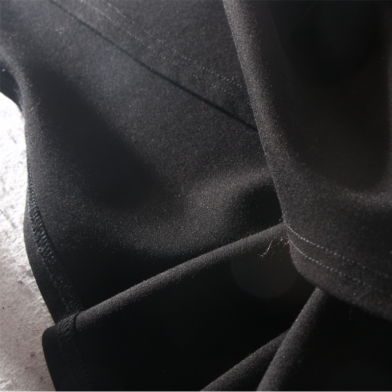 Modo Una L Naturale Arrivi Black 3xl collo Inverno 2018 Stivali Ginocchio Al Di O Abiti Pieno Delle Linea Donne Samgpilee Rivetto Nuovi Casual Stampa Manica qZwnBXp
