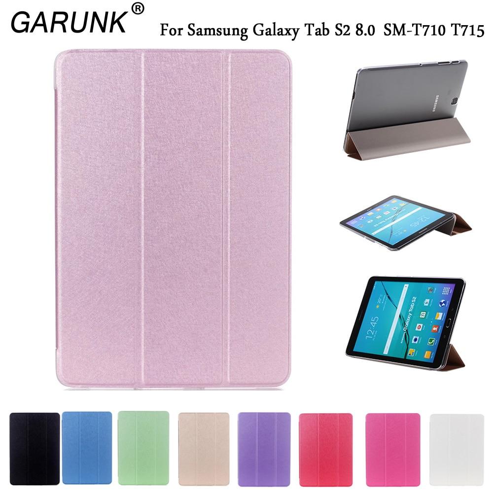 d417a9f92ad Tablets caso para Samsung Galaxy Tab S2 8.0 pulgadas sm-t710 t715c T715  soporte plegable