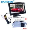 """Hd ccd cámara de visión trasera 8 led + 5 """"monitor de pantalla de coche para Kia K2 Rio ceed hatchback 2013 para Hyundai Solaris (verna) hatchback"""
