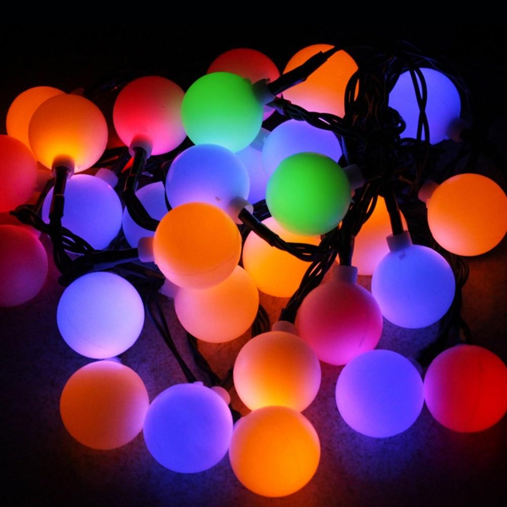 16ft 30 Led Ball Solar Lichterkette Garten Girlande Weihnachten