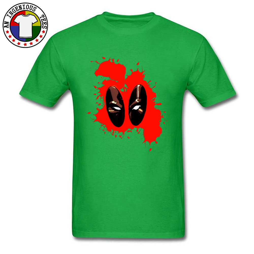 Deadpool Splattered 1226 Male Slim Fit Normal Tops Shirts Round Collar Fall 100% Cotton Tshirts Gift Short Sleeve Tee Shirts Deadpool Splattered 1226 green