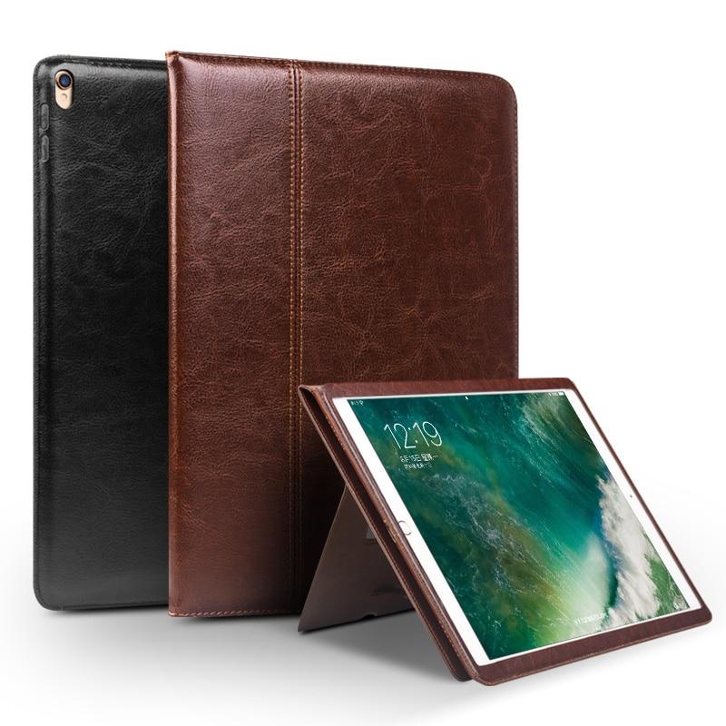 bilder für QIALINO Echte Ledertasche für iPad Pro 10,5 Ultradünne Flip Mode muster Stents Ruhe Stand Abdeckung Kartensteckplatz 10,5 zoll