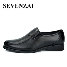 2017 luxury brand hidden heel formal male shoes leather slip on black dress moccasins shoes for men fashion footwear hot sale