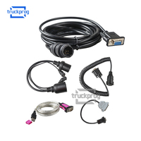 TruckProg Truck Trailer Brake Diagnostic Cable for KNORR BREMSE Scanner UDIF Interface Diagnosis tool Adapter Cable Full Set