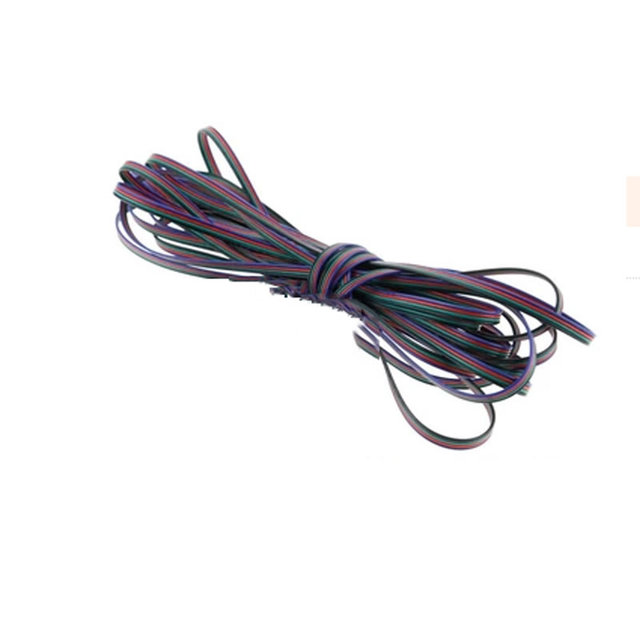 3m 4m 5m 10m 20m 50m 100m 4 Pin Channels cable for 5050 3528 RGB LED Strip Light  Module Extension Wire Cord