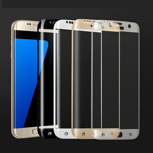 for Samsung S7 edge Screen Tempered Glass Full Cover 3D Curved Titanium Protective Film Full Coverage for Samsung S7 edge