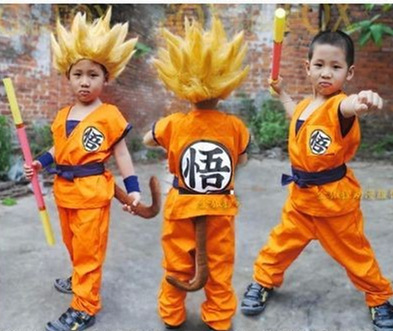 Dragon ball z costumes for Kids Cosplay suits cos GoKu Costume turtler satori Halloween Party supplies set anime clothing full s rolecos new anime kobayashi san chi no maid dragon cosplay costumes miss kobayashi s dragon maid elma cosplay costumes
