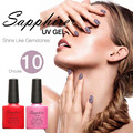 Sapphire Nail Gel Color UV Gel Polish 7.3ml Long Lasting LED UV Soak off Gel Polish 80 Colors For Choice