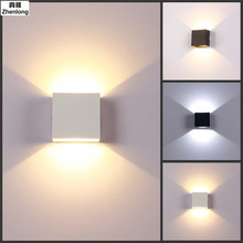 Simple Modern 6W Lampada LED Aluminium Wall Light Rail Project Square LED Wall Lamp Bedside Room Bedroom Wall Lamps Arts
