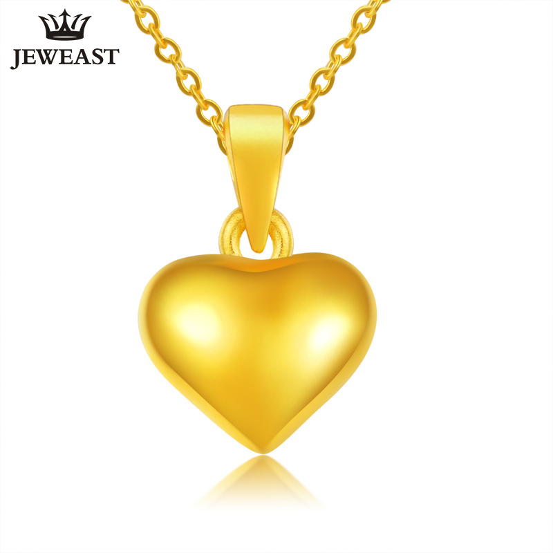24K Pure Gold Pendant Real AU 999 Solid Gold Charm Lovely Nice Heart Upscale Trendy Classic Party Fine Jewelry Hot Sell New 2018 24k gold ring flower female women mother wife lady girl 2017new hot sale fine jewelry trendy good nice top upscale real pure 999