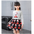 2017 Girls Spring Dress Printed With Pattern Princess Kids Clothes Long Sleeve Children Dresses