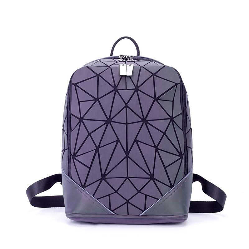 bao bao bag Geometric cool backpack chaotic triangular shoulder bag Japanese 2017 winter new Women backpack паяльник bao workers in taiwan pd 372 25mm