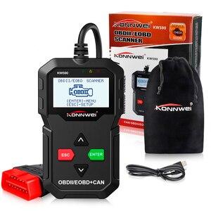 Image 3 - KONNWEI KW590 Universal OBD2 EOBD CAN Code Reader Diagnose Scanner Autoscanner Motor Diagnose Tool Besser Als AD310 NL100