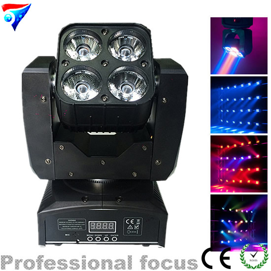 Free Shipping 6pcs/Lot Mini 4*15W RGBW Led Beam Wash Moving Head Light Stage Lighting