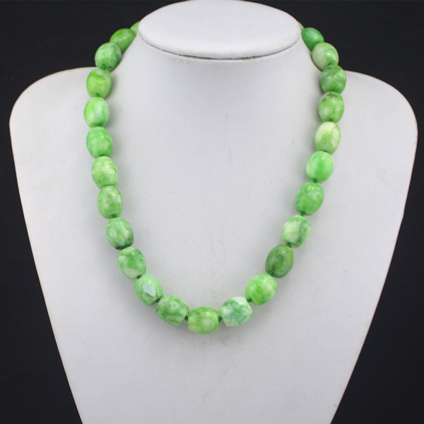 N17 Natural Green Stone Necklace 1 Piece Pendant Vintage Look Jewelry Factory Price Wholesale цена и фото