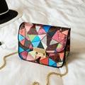 2016 лето новая сумка мини пряжки цепь сумка женская сумка мода PU кожаная сумка