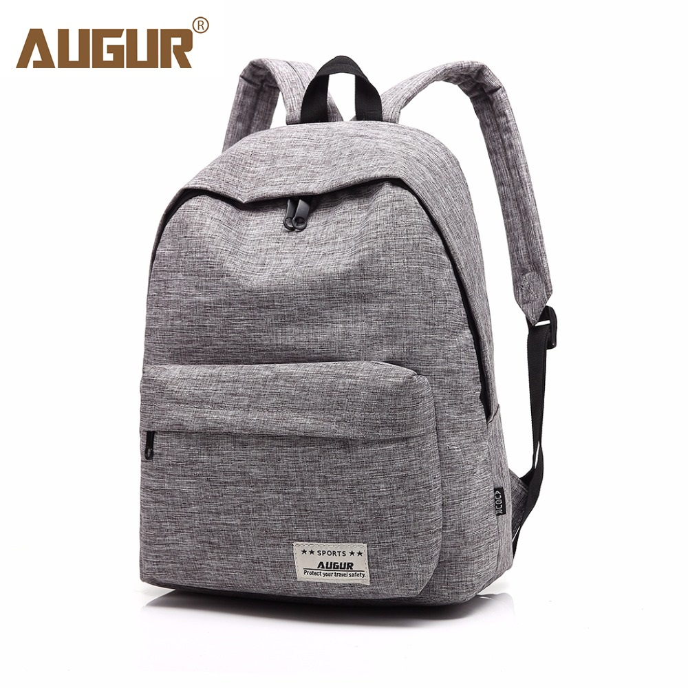 AUGUR Brand Backpack For Men Woman School Bag 14inch Laptop High quality Travel College Wind Small Fresh Fashion Men Backpack augur oxford 17inch laptop men backpack large capacity student school bag for college patchwork business trip men rucksack