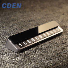 CDEN Car Sticker Temporary Parking Card Luminous Phone Number Card Car Kit Easy to Disassemble Replace Automobile Accessories цена