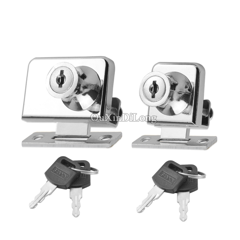 Express Shipping 50Sets Glass Cabinet Cam Locks Shopping Malls Showcase Display