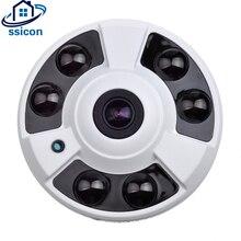 купить SSICON 2MP Metal Dome IP Panoramic Camera 180 Dgeree 360 Degree IR Distance 40M Home Surveillance Fisheye Camera ONVIF по цене 2030.79 рублей